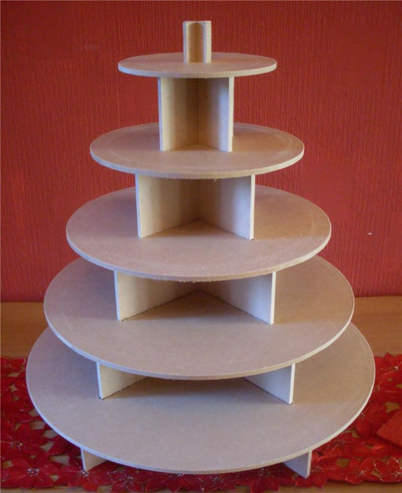5 TIER ROUND CUPCAKE PARTY WEDDING CAKE BUFFET STAND